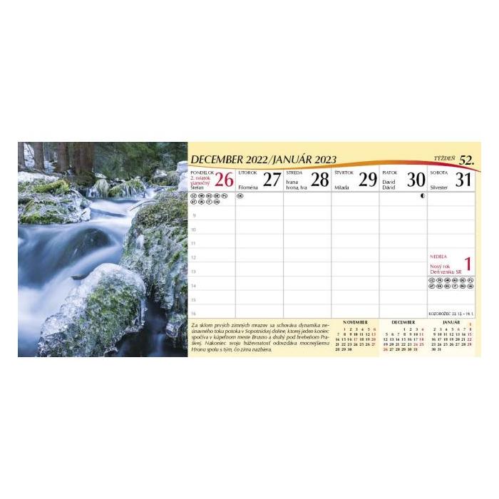 ecb9035b5 Stolový kalendár Slovensko stĺpcové 2019 | smartCAD